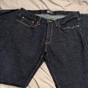NWOT men's Gap 34x34 straight dark wash jeans